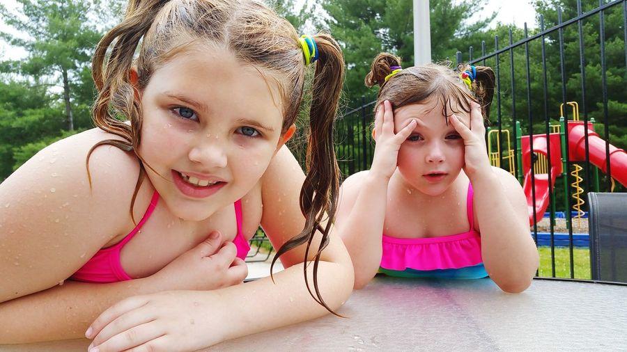 Hanging Out Swimming Pool Swummer Time Swimming Kiddos 2015  Pool Relaxing