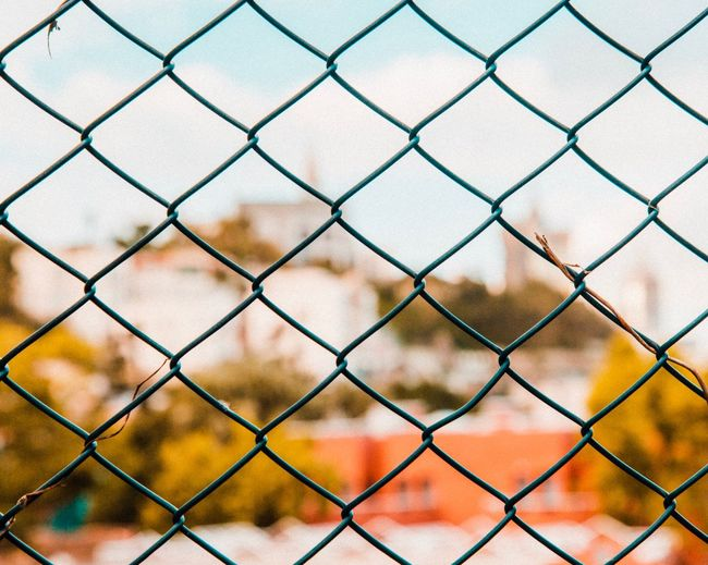DOF EyeEm Selects Chainlink Fence Fence Protection Security Full Frame Boundary Backgrounds Outdoors Focus On Foreground No People