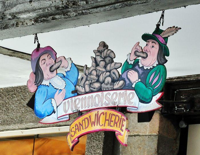 Shop Sign Sandwicherie Sandwiches Viennoiserie Eating Dinan Bretagne France🇫🇷
