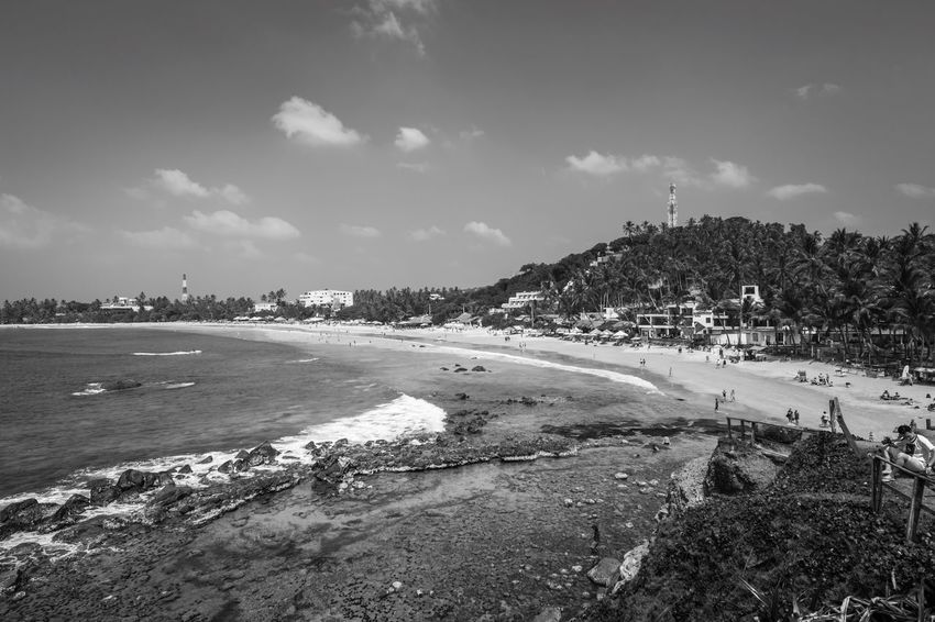 ~ escapade ~ Sri Lanka Mirissa Mirissabeach Sky Nature Outdoors Water Beach Blackandwhite Landscape Travel Nikon EyeEm Best Shots - Black + White EyeEm Best Shots Travel Destinations