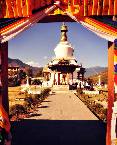 towards the temple... Ancient Bhutan Bhutan_places Bhutandiaries Culture Cultures Famous Place History Place Of Worship Religion Temple Temples Thimpu Thimpu_temple Travel Travel Travel Destinations Travel Photography Check This Out From My Point Of View Thimphu Bhutan_place Bhutan Diaries View_from_outside Rear View