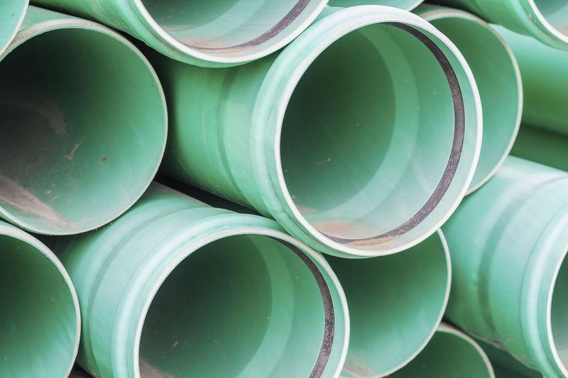 Full frame shot of green pipes