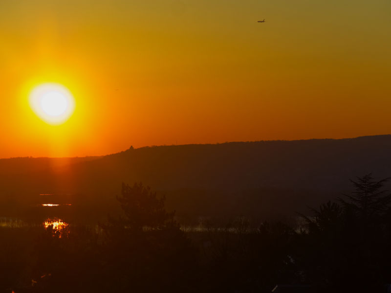 Sonnenaufgang in Rüdesheim am Rhein Sunrise_Collection Beauty In Nature Landscape Mountain Nature No People Orange Color Outdoors Scenics Silhouette Sky Sun Sunlight Sunrise Tranquil Scene Tranquility Tree