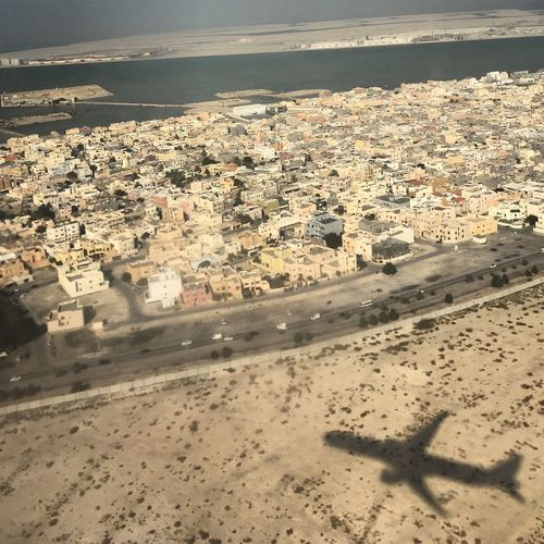 Emirates Boeing777 Bahrain Aerial View No People Water Beach Nature City Landscape Sand Cityscape Outdoors Day First Eyeem Photo