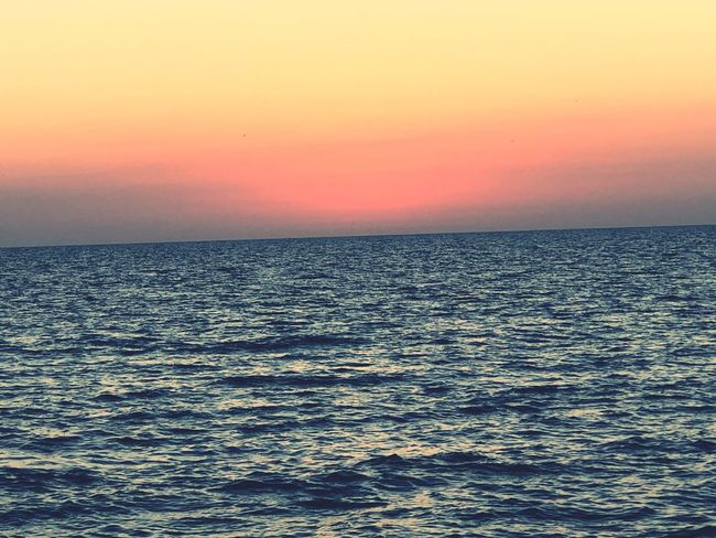 She's gone! Sea Scenics Sunset Beauty In Nature Tranquil Scene Tranquility Nature Horizon Over Water Day Clear Sky Sky Waterfront Outdoors Idyllic Rippled No People Water
