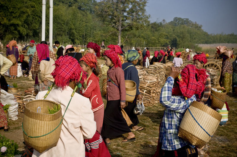 Basket Burma Check This Out Day Hello World Inle Inle Lake Large Group Of People Market Market Stall Marketplace Men Myanmar Nature Outdoors People Real People Sky Traditional Clothing Travel Travel Photography Tree Women