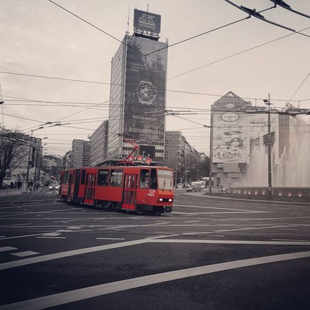 Tramway Travel Destinations Trip City Red Cityscape Road Street Sky City Street