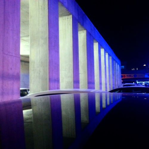 Illuminated Night Architectural Column Architecture Built Structure No People Indoors  EyeEm Best Shots City City Life Objektifimden Lighting Equipment Yansıma Blue Busterminal
