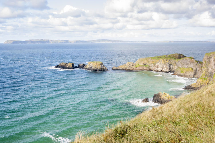 Seascape at The Carrick a rede in Northern Ireland Ireland Northern Ireland Sea Ocean Seascape Coast Coastline Europe Landscape Mountain Natural Beauty In Nature Water North Rede Rope Nature Rock Scenics - Nature Land Tranquility Horizon Over Water Outdoors