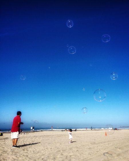 Fun Eye4photography  EyeEm Gallery EyeEm Team Blue Sky Bubbles Beach Land Sky Nature Blue Sea Water Sand Outdoors Clear Sky