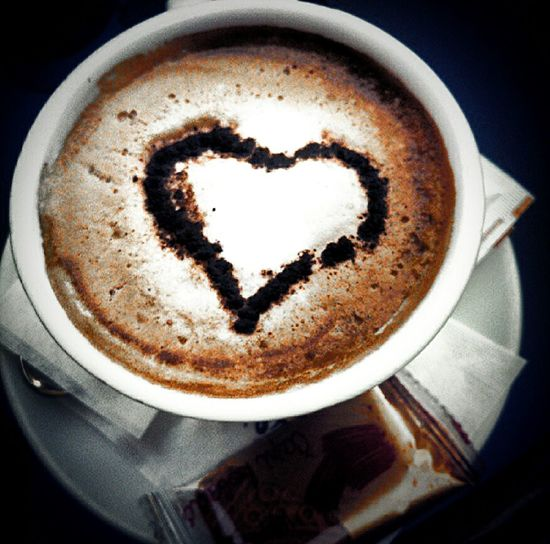 My Coffee ArtWork Heart ❤ Everywhere Coffeine Don't Forget To Smile Everyday !!!😊