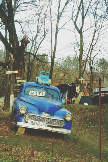 Abandoned Places Messiness Beauty Of Decay Blue Car Old Car Junkie