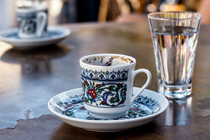 Caffè Close-up Coffee - Drink Cup Cup Of Coffee Day Drink Drinking Glass Focus On Foreground Food And Drink Freshness Indoors  No People Refreshment Saucer Small Cup Table Turkish Coffee Turkishcoffee
