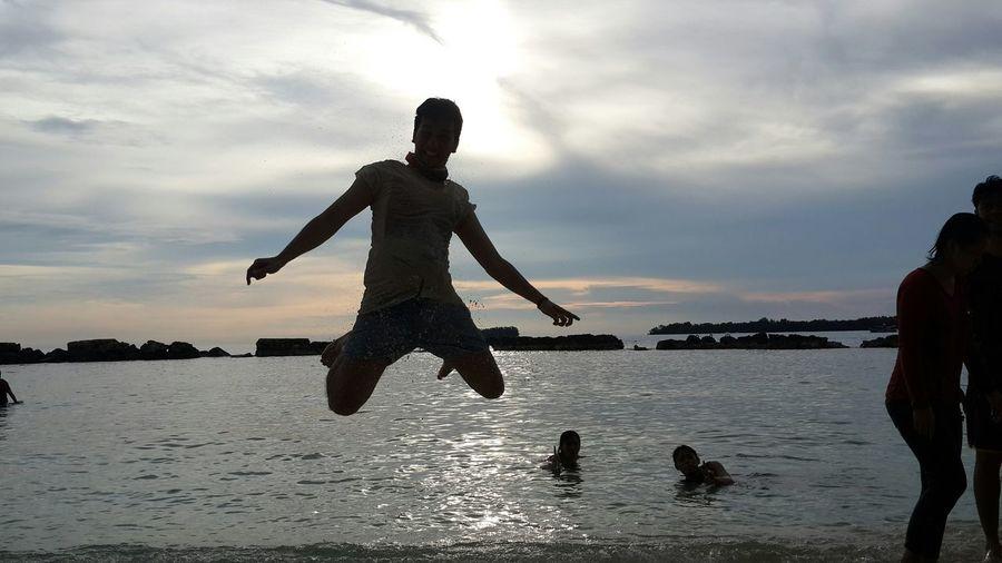 Jumpaction Sandeffect Sunset