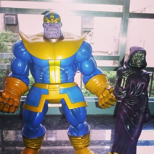 The titan and his lovely lady! Thanos Avengers Marvel Beauty Marvelselect Figureoftheday Figurecollecting Ladydeath Infinitywars Figures Geekingout Summer Indisabalief Topfavorite Sohype Fuckingawsome Fuckyea Madtitan Ladydeath Duo