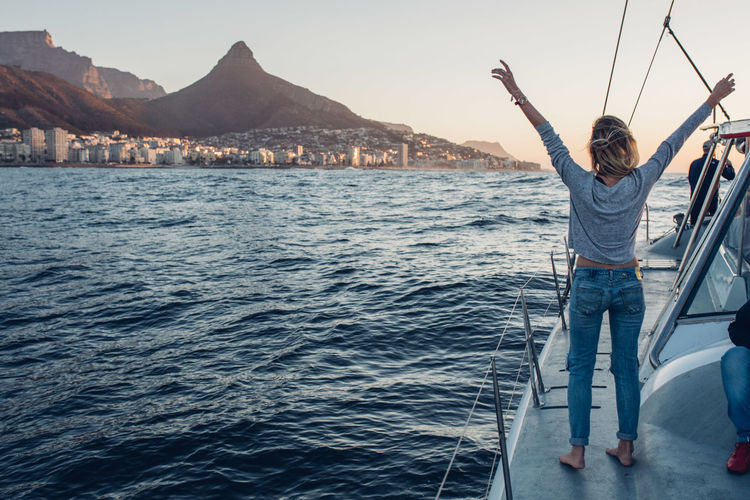 Cape Town Catamaran Enjoying The Sun Enjoying The View Exploring Friends Quality Time Sailing Ship Travel Traveling Woman Adventure Boat Boat Cruise Enjoying Life Friendship Future Horizon Horizon Over Water Ocean Outdoors Roadtrip Sailing Sunset Thinking About Life