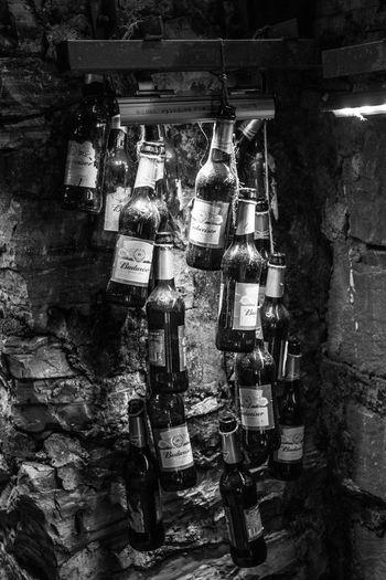 Beer Black & White Lonely Bar Blackandwhite Bottle Hanging Night
