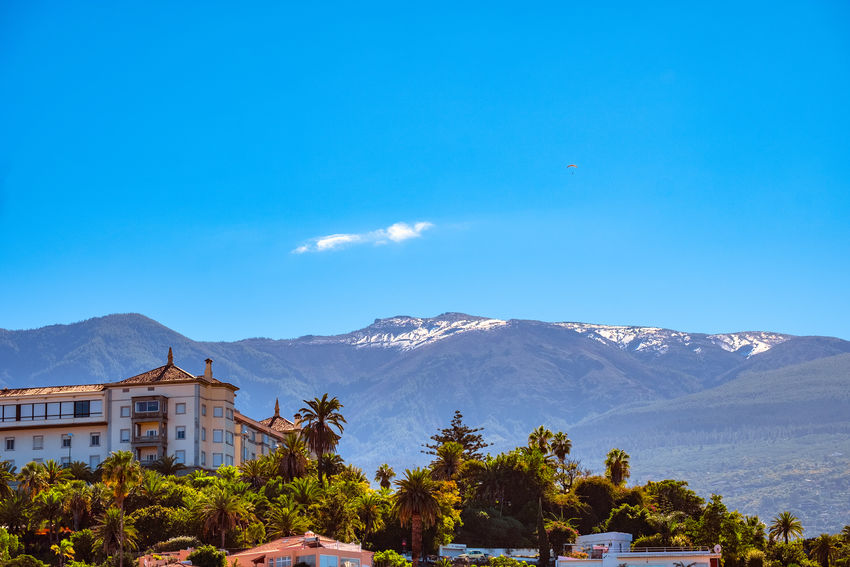 2018-11-24 It snowed in the highlands of Tenerife. On the Teide, the snow remains. Tourism Canary Islands City Field Forest Hill Home Houses Ice Landscape Monastery Mount Scenery Mountainous Landforms Mountains Outdoors Panorama Puerto De La Cruz Rural Snow SPAIN Tenerife Teneriffa Town Taoro Travel Mountain Sky Tree Scenics - Nature Plant Beauty In Nature Blue Architecture Nature Built Structure Building Exterior Day Mountain Range Tranquil Scene Building Tranquility Copy Space No People House Snowcapped Mountain