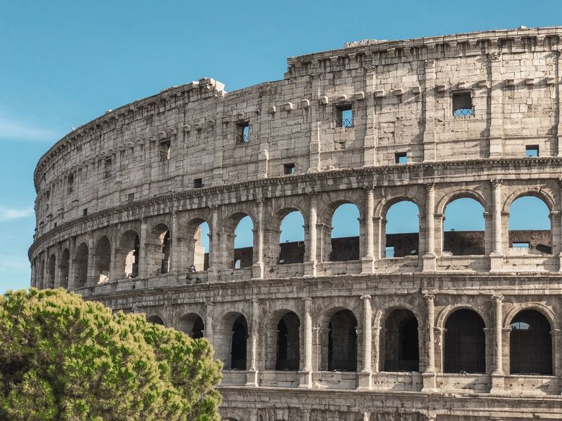 Italy Rome Collosseum History Architecture Ancient The Past Built Structure Amphitheater Arch Tourism Old Ruin Sky Travel Destinations Travel Building Exterior Clear Sky Nature Ancient Civilization Low Angle View No People