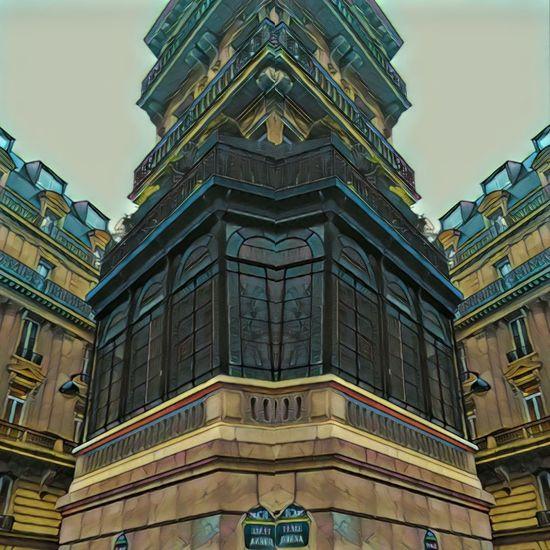 Paris Immeuble Hausmann City Multi Colored History Sky Architecture Historic Palace