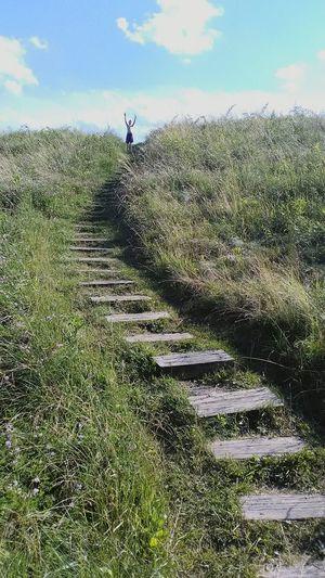 Cloud - Sky Sky Grass Day Outdoors Nature Stairways StairwaytoHeaven Champion