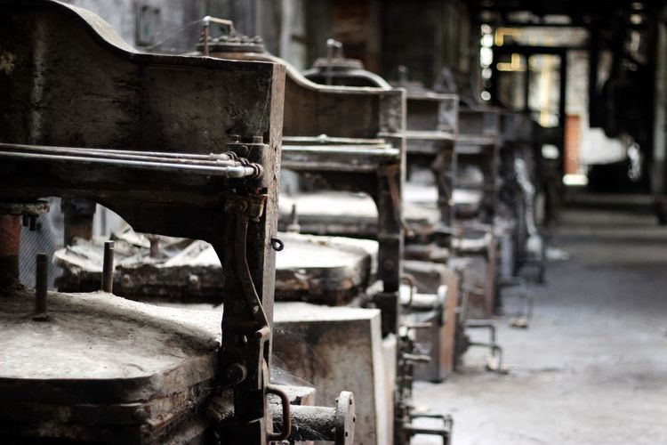 Old Machineries In Abandoned Factory