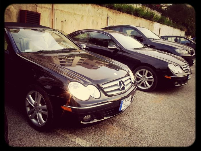 Mercedes Benz Black CLK350 Soft And Hard Top Photography