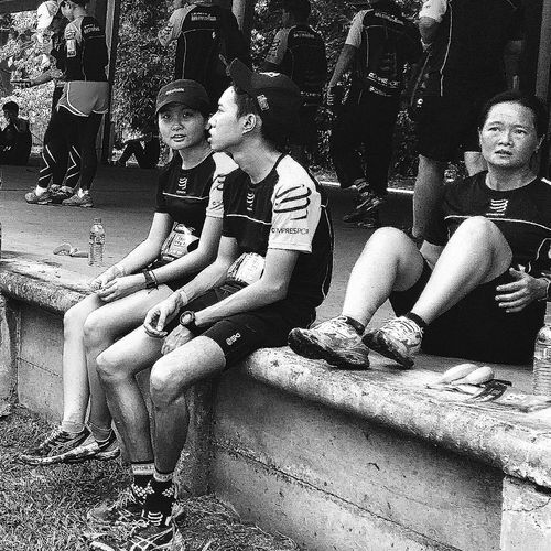 Runners Post-run Streetphotography Rail Corridor Run 31 January 2016 Tanjong Pagar Railway Station 3May1932-1July2011 Snapshots Of Life Capture The Moment Bnwcollection Bnwphotography Bnw_life Bnw_planet Bnw_society Bnw_worldwide Bnw_captures Bnw_streetphotography Eyeemcollection Eyeemphotography Eyeem Streetphotography EyeEm Gallery
