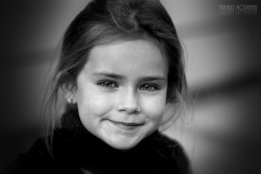 Portrait Childhood Monochrome Human Face Real People Beauty Girls Child One Person Close-up ArtInMyLife ArtWork Nikon Nikon Photography Fine Art Photography Cinemaphotography F4F Art EyeEm Smile