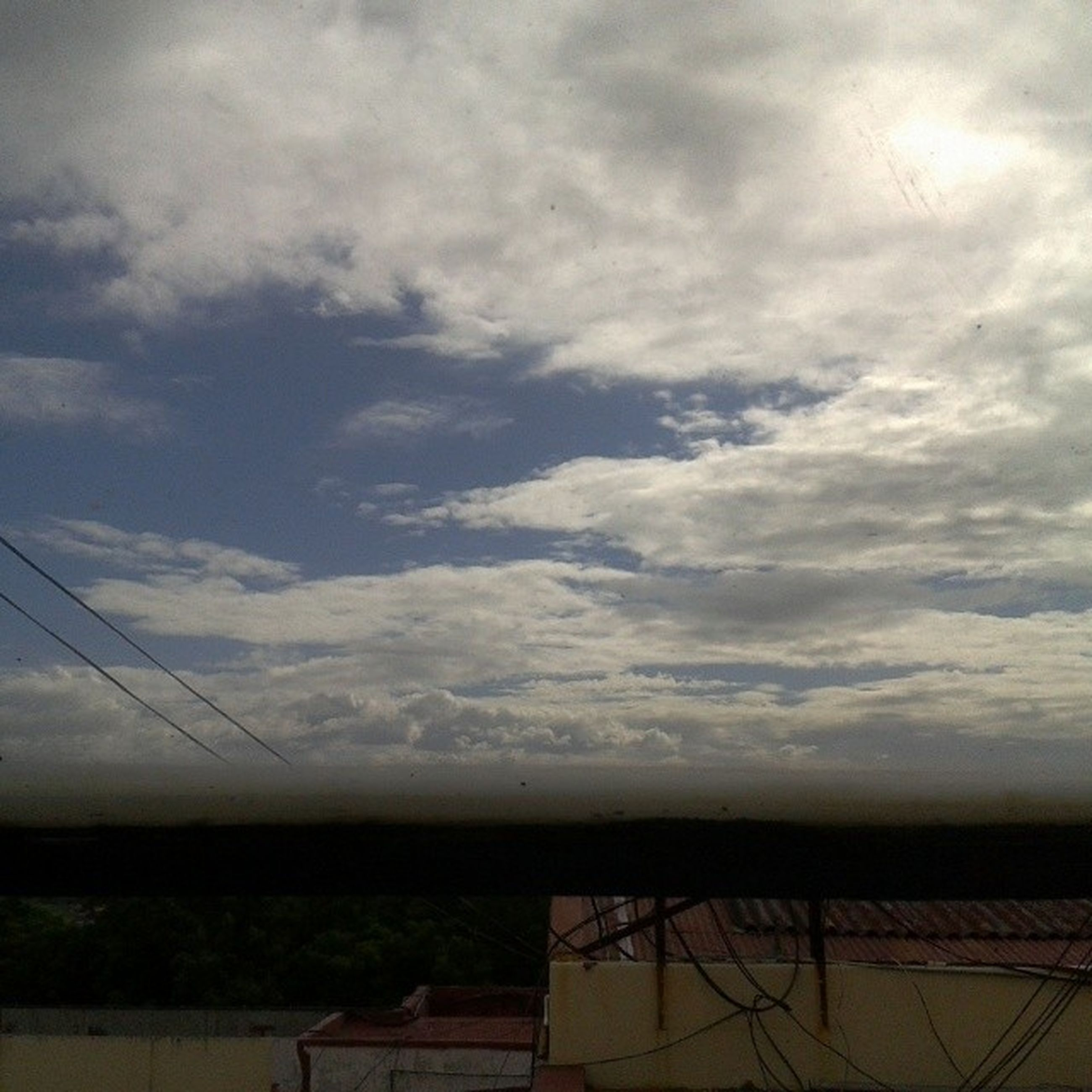 sky, cloud - sky, cloudy, power line, tranquility, electricity pylon, tranquil scene, cloud, landscape, scenics, nature, electricity, beauty in nature, connection, field, cable, power supply, weather, overcast, fuel and power generation
