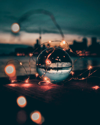 EyeEm Selects Christmas Decoration Christmas Celebration Illuminated Close-up Bauble Christmas Ornament Festival Decoration HUAWEI Photo Award: After Dark