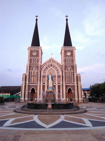 One of the oldest churches in Thailand, Chanthaburi. This Is Masculinity Place Of Worship Religion Spirituality Travel Destinations Sky No People Architecture Outdoors Day