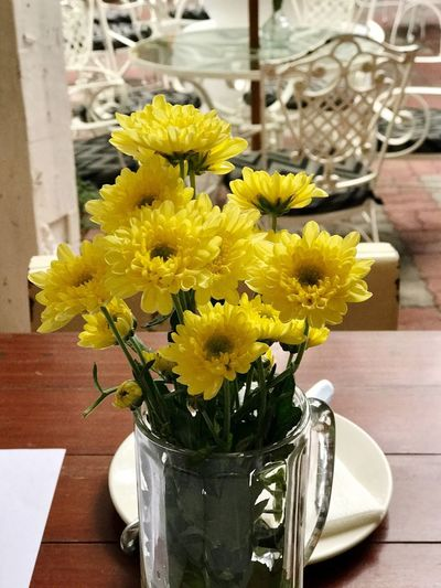 Flower Vase Yellow Table Freshness Fragility Flower Head Indoors  No People Petal Home Interior Close-up Bouquet Sunflower Day Nature Beauty In Nature