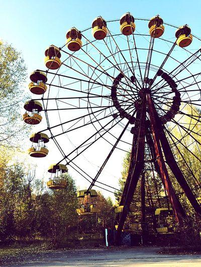 Sad ... Ferris Wheel Outdoors Chernobyl Exclusion Zone Chernobyl Abandoned Abandoned Amusement Park Prypiat Ukraine Nuclear Death Radiation