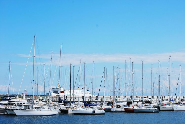Nautical Vessel Transportation No People Mode Of Transport Water Outdoors Sailboat Sky Sea Mast Tranquil Scene Yacht