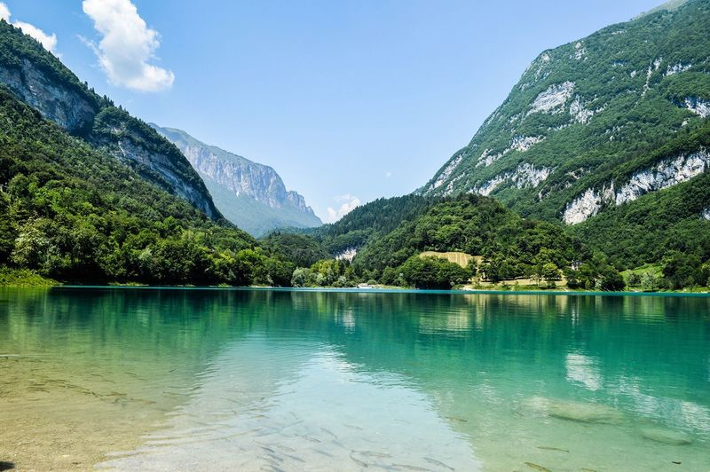 Italy Lago Di Garda Crystal Clear Crystal Clear Waters Mountain View Blue Sky Water Reflections Tenno Lake Turquoise Water Naturelover Landscape Landscape_Collection Landscape_photography Land