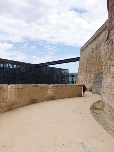 Marseille Architecture Built Structure Sky Day Building Exterior One Person History Travel Destinations Architecture Fort Saint Jean MUCEEM Full Length Outdoors Men Standing One Man Only Nature People