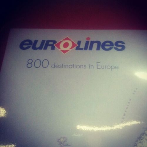 Just boarded a Eurolines bus. They have 800 destinations. Where do you think I'm heading for New Year? Bus Travel Europe