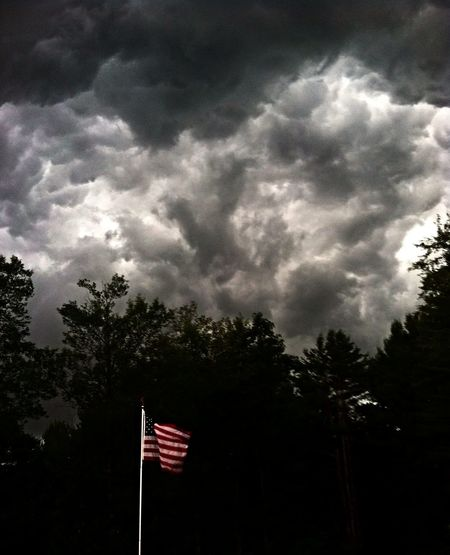 Thunderstorms Storm Clouds American Flag Clouds And Sky