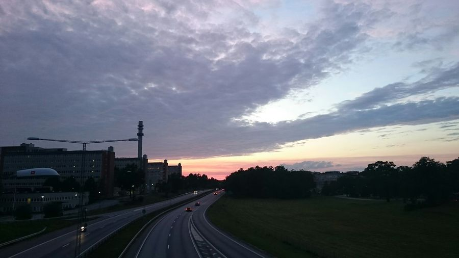 Farsta Sunset Stockholm, Sweden Highway Nynäsvägen Night Lights