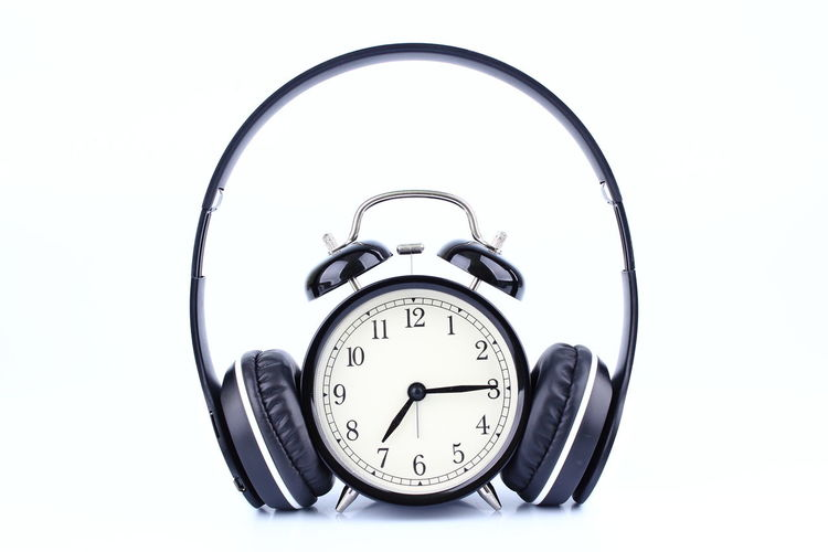 Alarm Clock Background, White, Isolated, Black, Design, Icon, Card, Music, Word, Clock, Flat, Cord, Alarm, Headphone, Illustration, Object, Technology, Digital, Entertainment, Time, Sound, Musical, Audio, Ear, Volume, Hour, Earphone, Color, Art, Symbol, Modern, Graph Bell Black Alarm Clock With Headphone Isolated On White Background Clock Clock Face Close-up Day Hour Hand Minute Hand No People Single Object Studio Shot Time White Background First Eyeem Photo