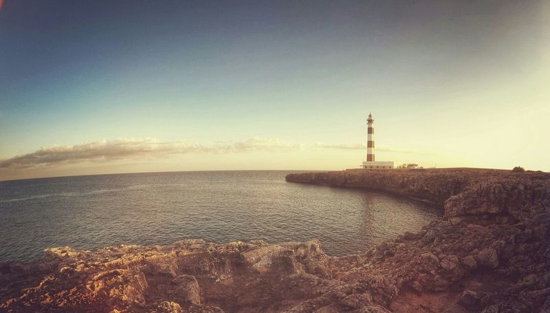 Seascape Travel Sunset Lighthouse Menorca