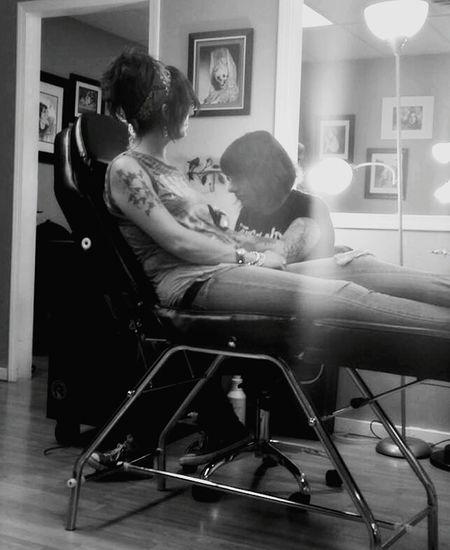 Tattoo Getting Inked Black And White