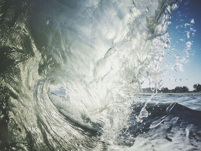 Close-up of wave on ocean