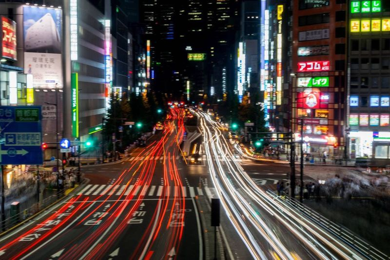 Tokyo street The Street Photographer - 2018 EyeEm Awards Nikon The Traveler - 2018 EyeEm Awards EyeEmNewHere Japan Travel Photography Cityscape Illuminated Architecture City Long Exposure Motion Light Trail Built Structure Building Exterior Speed Transportation Night Road City Life Street Multi Colored City Street Blurred Motion Traffic Sign The Traveler - 2018 EyeEm Awards The Street Photographer - 2018 EyeEm Awards EyeEmNewHere