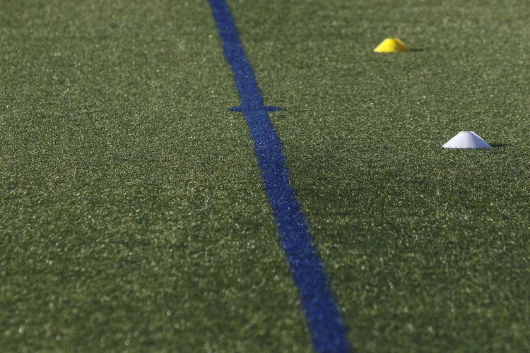football field Sport Grass Day No People High Angle View Nature Ball Green Color Land Outdoors Sunlight Plant Selective Focus Field Leisure Activity Close-up Shadow Blue Golf Ball Surface Level