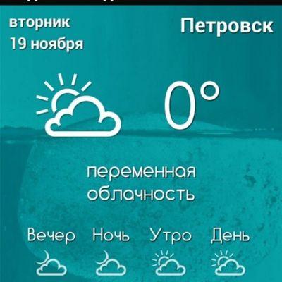 Погода сейчас температура петровск petrovsk