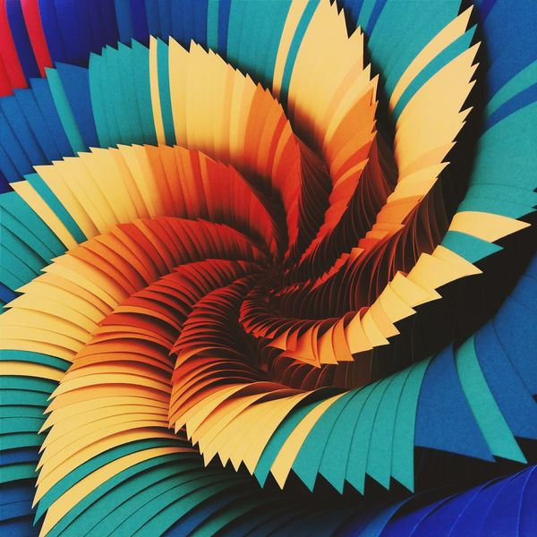 gradient On Paper Paper Sculpture Abmb2014 Jenstark Vanishing Point