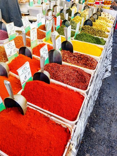 colorful spices Spices Of The World Spice Market Vibrant Color For Sale Abundance Large Group Of Objects Day Choice Retail  No People Multi Colored EyeEmNewHere
