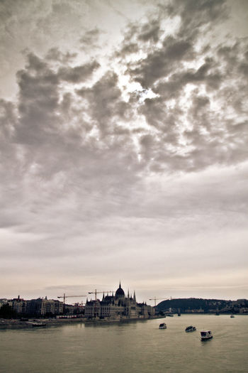 Architecture Budapest Parliament Budapest, Hungary Building Exterior Built Structure City Cityscape Cloud - Sky Day Nature Nautical Vessel No People Outdoors River Sky Travel Travel Destinations Travelling Water Waterfront